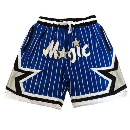 Men/'s Orlando Magic Basketball Game Shorts Vintage NWT Stitched Jerseys Pants