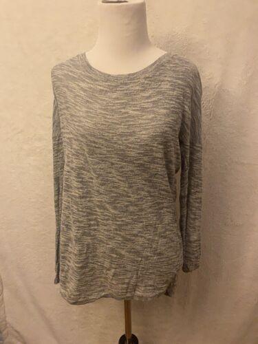 Express Gray Long Sleeve 3/4 Sleeve Shirt Long