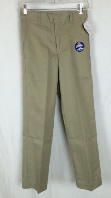 NEW Dickies Boys Black Pants School Uniform Size 8 H Husky Flex Classic Fit