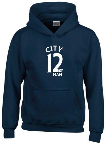 12th Man Manchester City Fan Hoodie Kids