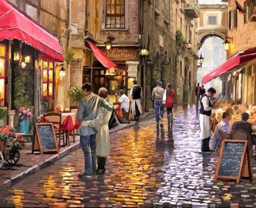 Cafe Street 0908 B//W cross stitch chart buy 1 Get 1 Mitad De Precio