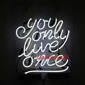You only live once yolo real glass beer bar neon light wall sign image is loading you only live once yolo real glass beer aloadofball Gallery