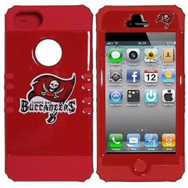 Tampa Bay Buccaneers Hybrid Impact Rugged Hard Cover Case for Apple iPhone 5 5S
