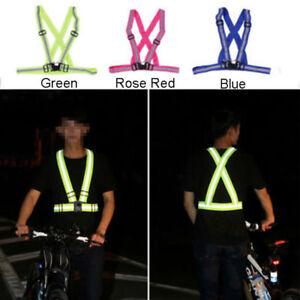 Reflective-Work-Hi-Vis-Safety-Belt-Bike-Running-Cycle-Vest-Child-Adult-3-Colours