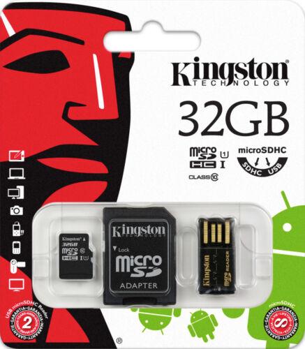 3-IN-1 USB STICK 32GB SPEICHERKARTE UND 32 GB MICRO SD SDHC CLASS 10 KARTE @