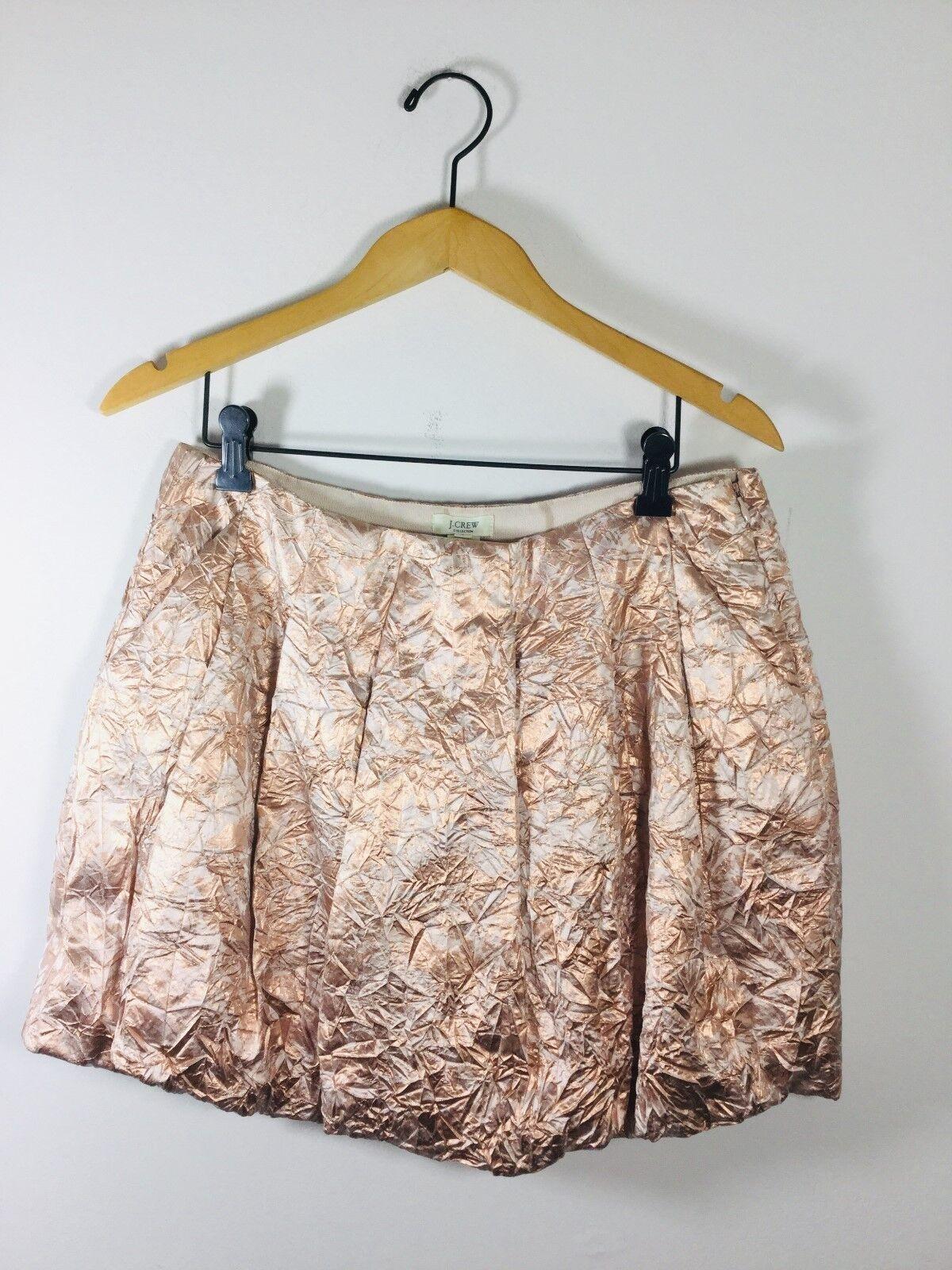 J CREW COLLECTION pink gold Size 6 Metallic Mini Bubble Skirt