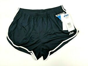 Asics-Mens-Bell-Lap-1-2SP-Sh-Black-Running-Shorts-Size-XL