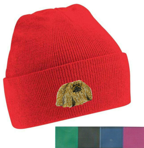 Pekingese Beanie Hat  Perfect Gift Embroidered by Dogmania