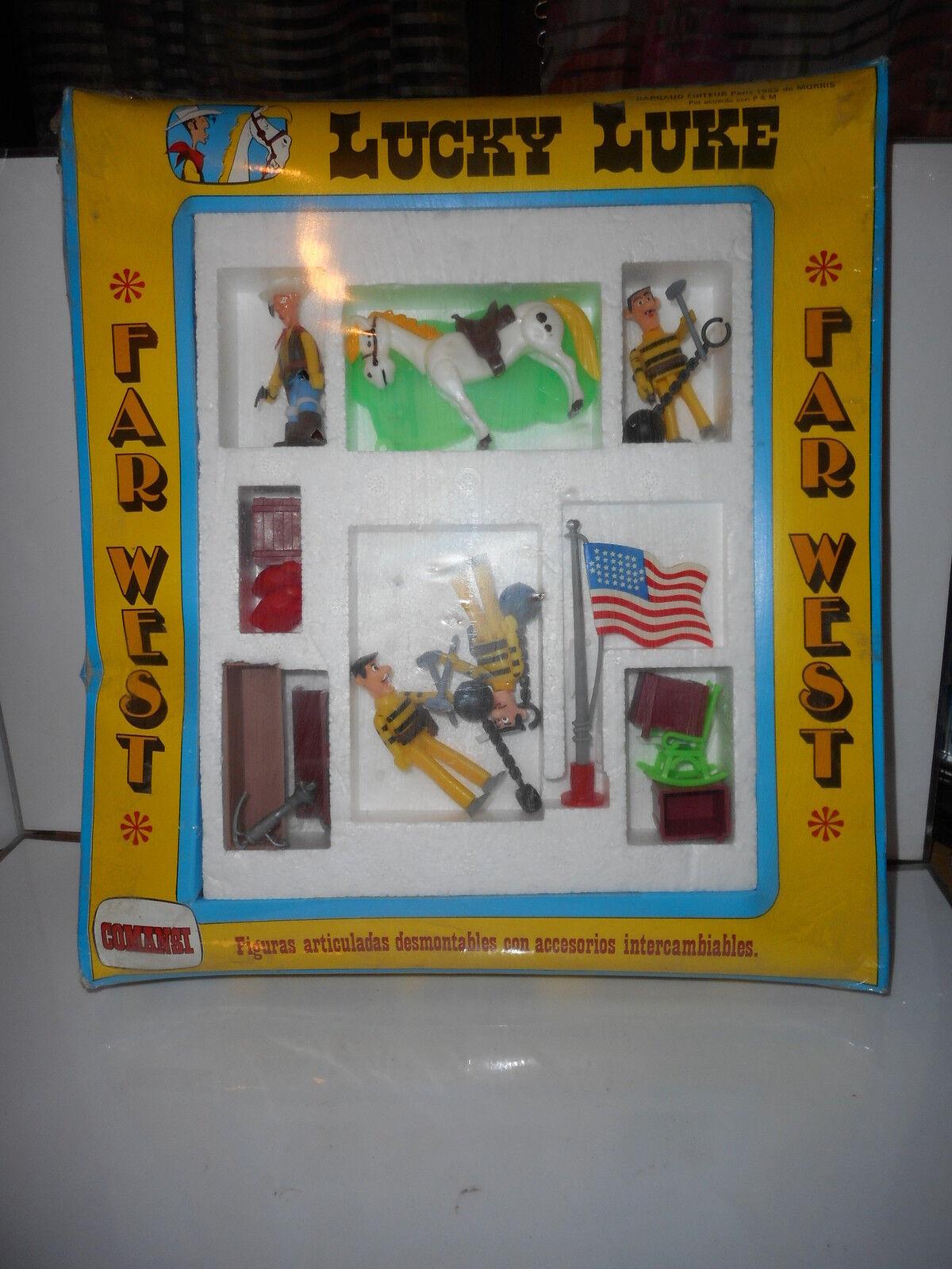 Lucky luke figurine articulé (comansi-plasJuguete) Morris dalton articulated