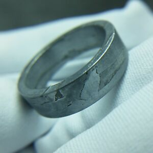 Meteorite-ring-seymchan-Widmanstatten-pendant-mineral-amulet-iron-inner-18-1mm
