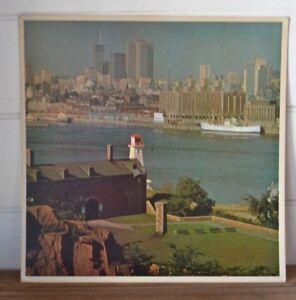 Vintage-Large-photograph-print-1950s-Canada-warf-city