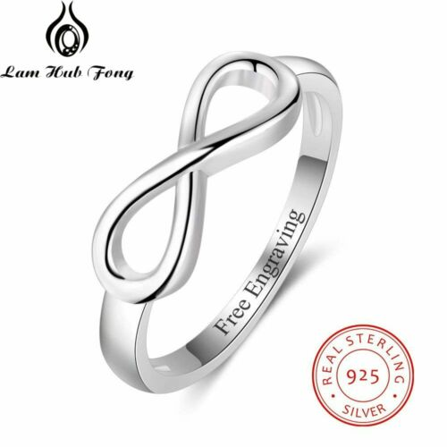 Women Personalized Infinity Ring 925 Sterling Silver Custom Name Wedding Gift
