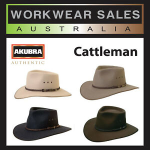 bf90bd3e Image is loading Akubra-Hat-Australian-Country-Style-Cattleman-Authentic- Favourite-