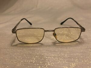 Revillon-Eyeglasses-Vintage-Silver-Tone-Black-Rubber-Prescription-140mm-Paris