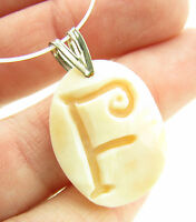 M M Scognamiglio Italy Sterling Cameo Initial F Necklace Pendant $89.95