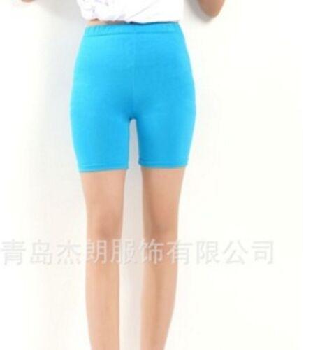Yoga Gym Women Cotton Spandex Legging Biker Shorts Reg Plus 3XL-5XL Usa