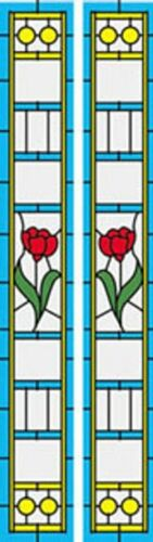 Dollhouse 1//12 Simulated Leadlight Stained Glass Door Sidelight Inserts SLIM10
