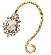 Western StylPunk Rhinestone Drop Flower Golden Fashion Earring Left Ear Clip 1PC