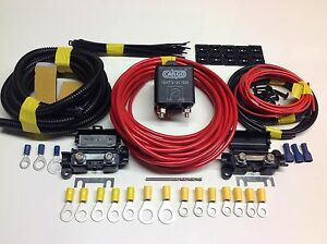 Great-Value-3-mtr-Split-Charge-Relay-Kit-System-With-100amp-Heavy-Duty-Relay