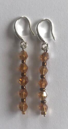 Silver Earrings Handmade Dangle Drop Earrings Available in 11 Colours FREE P/&P