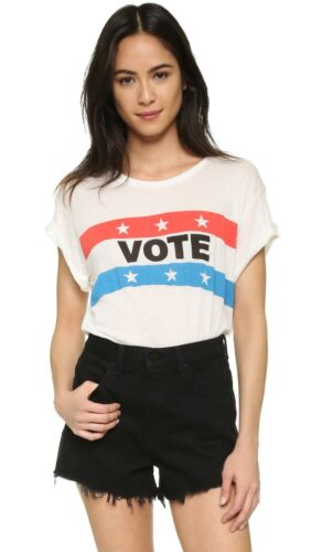 Wildfox Couture Vote Tee Color: White Oversized Baggy S Sz XS