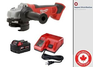 New Milwaukee 2680-21 18-Volt M18 4-1/2-Inch Cut-off / Grinder Kit 5.0 Battery