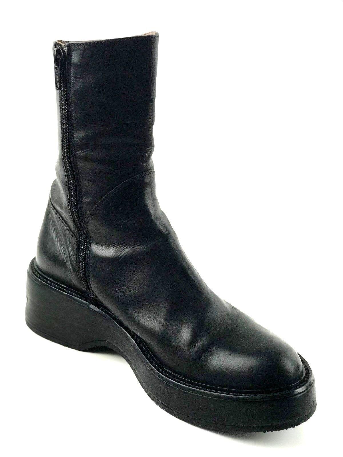 JEAN CLAUDE MONDERER Paris Gothic Punk Black Boots  US.7 UK.5 EU.37.5