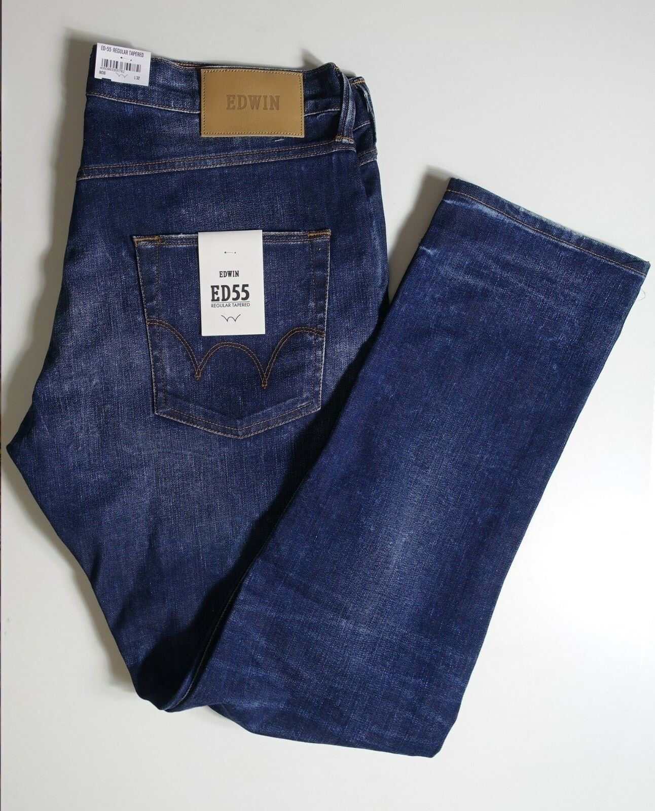 Jeans EDWIN neuf étiquette Japan ED-55 relaxed tapered blue W36 L32 valeur