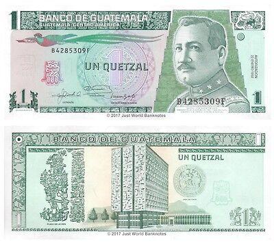 UNC GUATEMALA 1 Quetzal 1992 Pick 73c