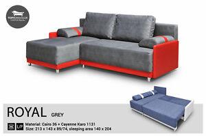Corner Sofa Bed 4 Seater Fabric