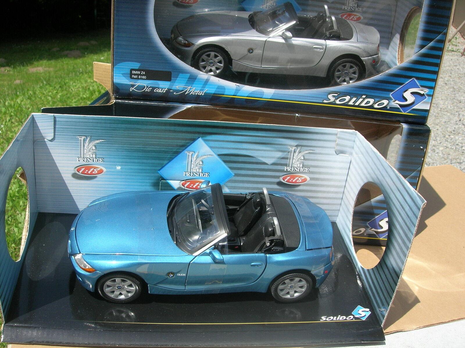 SOLIDO 1 18 BMW Z4 2003 CAB Bleu metal