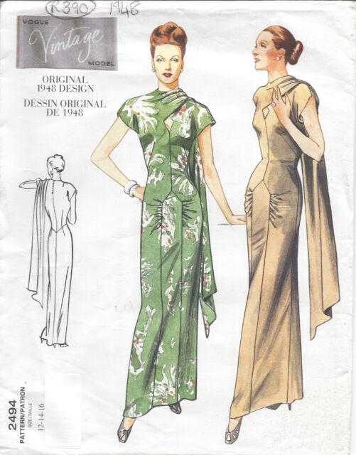 Nähen Schnittmuster 1948 Vintage Vogue B40-42-44 Kleid (r948) | eBay