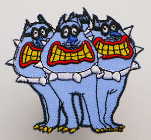 BEATLES-034-BLUE-MEANIES-034-Embroidered-Iron-On-Patch-MIX-039-N-039-MATCH-1E12