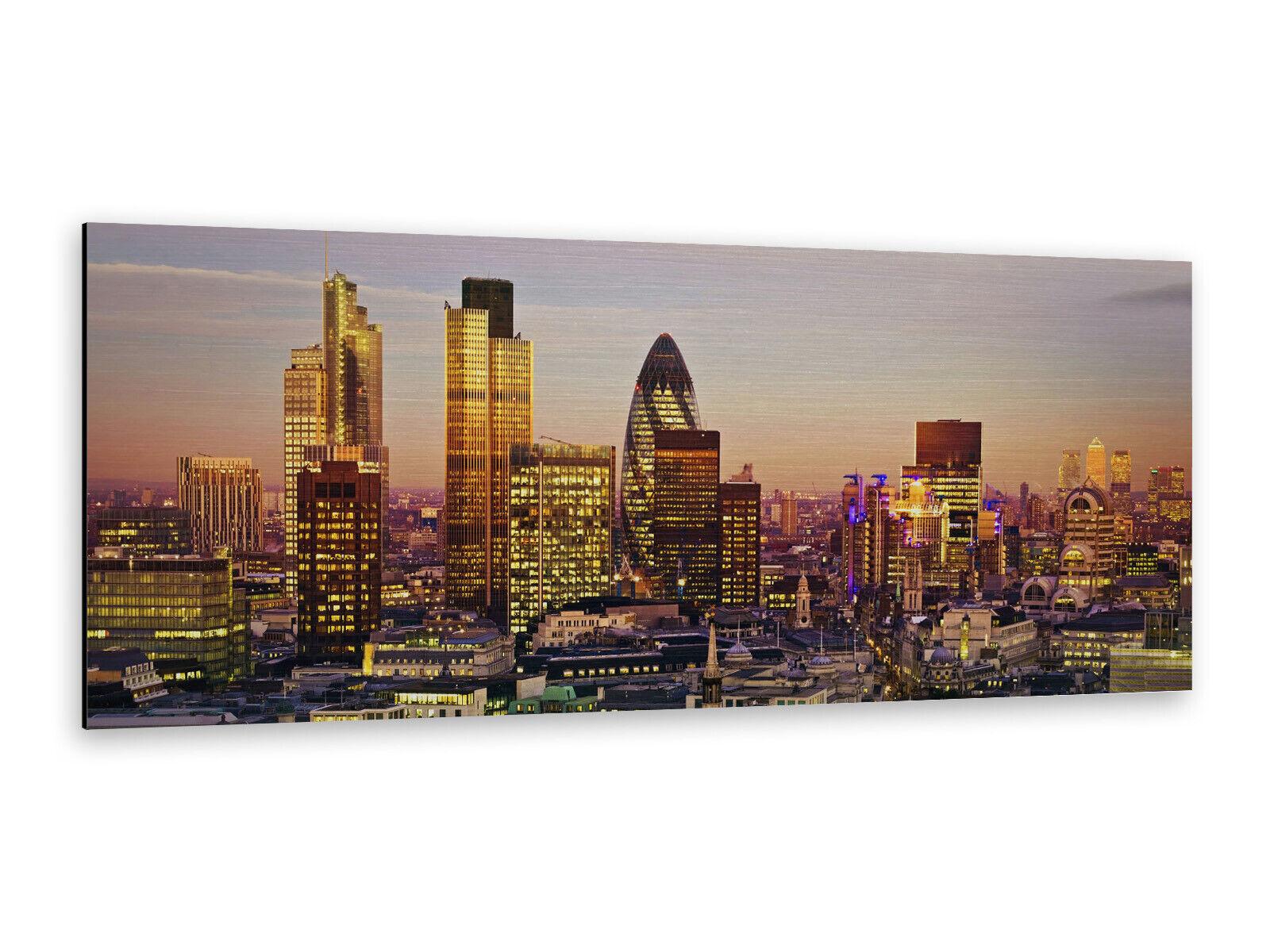 Alu-Dibond Bild ALP12502109 Sonnenuntergang London Skyline  125 x 50cm Edel gebü
