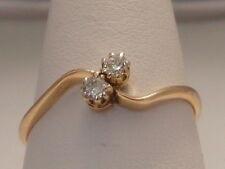 448F VINTAGE LADIES 18CT GOLD 0.15 CARAT SI1/H DIAMOND DRESS RING SIZE T