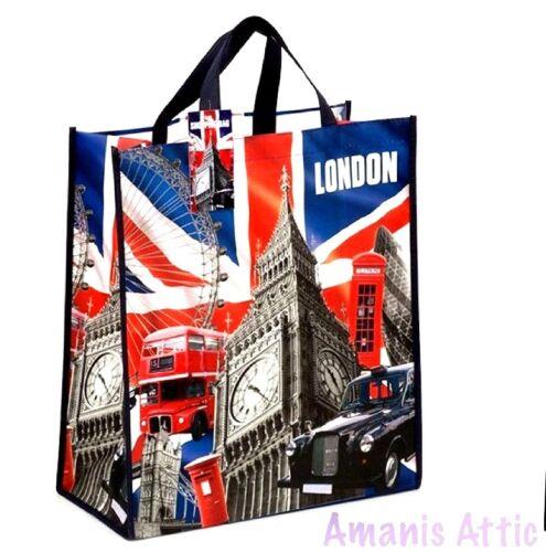 London Eye Big Ben Bag Red Phone Bag Reusable Shopping Xmas Gift Bags SOUVENIR