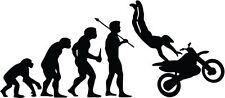 "MOTOCROSS RACING EVOLUTION Vinyl Decal Sticker-6"" Wide White Color"
