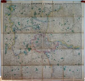 Antique-maps-Stanford-039-s-map-of-the-environs-of-London-c-1890