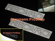 "2x 4.75""12.1cm RECARO decal sticker Mitsubishi Evolution MR EVO V X Lancer vinyl"