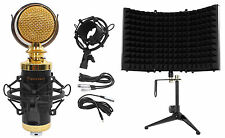 'Rockville RCM02 Pro Studio Recording Condenser Microphone Mic+Shock Mount+Shield' from the web at 'https://i.ebayimg.com/images/g/TDoAAOSw5cNYMJYz/s-l225.jpg'