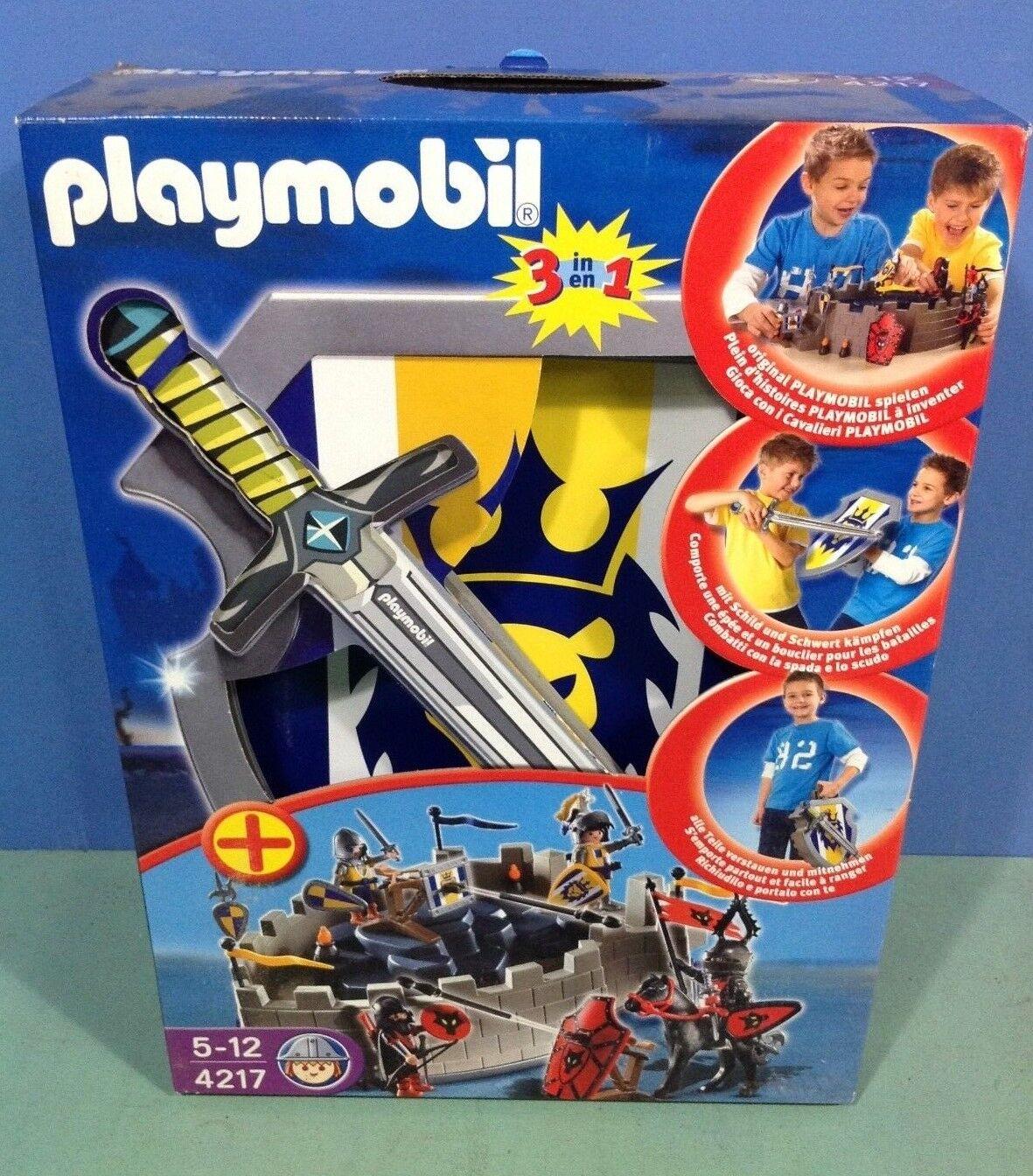 (P4217) playmobil Set chevalier transportable ref 4217 en boite neuve année 2008