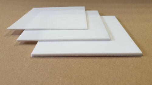 PTFE Teflon Platte Zuschnitt Dichtung  weiß 0,5 bis 3 mm 100 x 100 mm