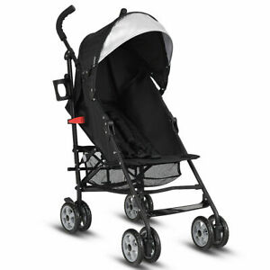 Folding Lightweight Baby Toddler Umbrella Travel Stroller w/ Basket Outdoor