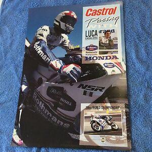LUCA-CADALORA-ROTHMANS-KANEMOTO-HONDA-POSTER-1991-IN-WONDERFUL-CONDITION