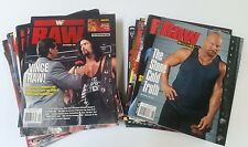 Wreslting WWE RAW Magazine Lot of 31 1996 - 2005 HBK Austin Flair Rock Foley WWF