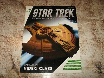 IN STOCK Star Trek Hideki Class with Collectible Magazine #33 by Eaglemoss