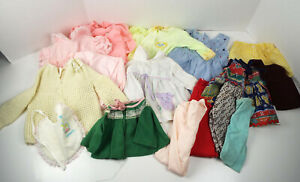 Vintage-Baby-Doll-Clothes-Collection-16-Piece-Estate-Lot-Sold-As-Found