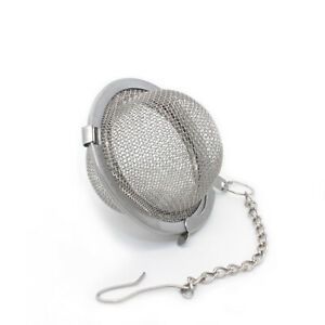 New Tea Ball Spice Strainer Mesh Infuser Filter Diffuser Stainless Steel Herbal