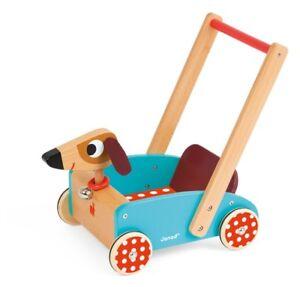 Janod Chariot en bois Jouet pour chien Dolly Toddler Trotteur 05995