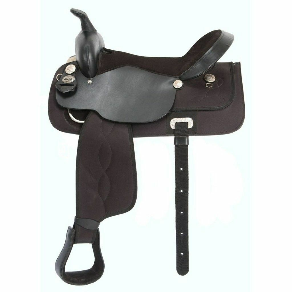 King Series Saddle Krypton Western Synthetic Fiberglass  BLK 17  KS417 - NEW -